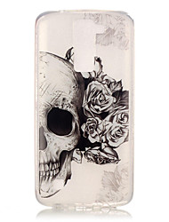 cheap -TPU + IMD Material Skull Pattern Painted Relief Phone Case for LG K10/K8/K7/K4