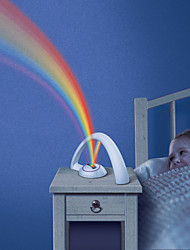 RGB Fashion Rainbow Light For Child Girls Led Projector Romantic Projection Lamp Night Light Atmosphere Aaa Lamps