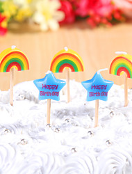 cheap -Party Decoration Happybirthday Birthday Candles Set (5 Pieces) Cartoon Small Candles