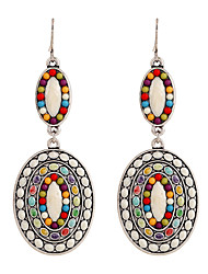 cheap -Women's Rhinestone - Vintage / Party / Work Rainbow Round / Circle / Geometric Earrings For Wedding / Party / Daily