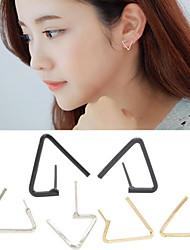 cheap -Earring Geometric / Triangle Shape Stud Earrings Jewelry Women / Men Fashion Wedding / Daily / Casual Alloy 1 pair Gold / Silver