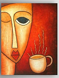 Hand-painted Oil Paintings Modern Abstract Coffee Wonen Canvas Decor Ready to Hang