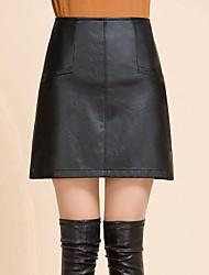 preiswerte -Damen Übergrössen A-Linie Röcke - Solide