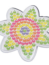 cheap -1PCS Template Clear Pegboard Flower for 5mm Hama Beads Perler Beads Fuse Beads