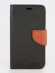 billiga -fodral Till Samsung Galaxy Samsung Galaxy S7 Edge Plånbok / Korthållare / med stativ Fodral Enfärgad PU läder för S7 edge / S7 / S6 edge plus