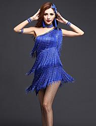 Budeme latinské taneční šaty ženy výkon šaty neckwear