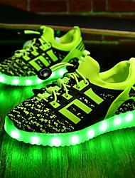 abordables -Garçon Chaussures Tissu Printemps Automne Chaussures Lumineuses Confort Basket LED pour Athlétique Noir Vert Bleu royal Rouge