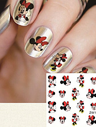 Fashion Printing Pattern Water Transfer Printing Cartoon Pattern Nail Stickers
