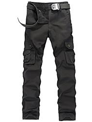 男性 ルーズ ストレート プラスサイズ チノパン スウェットパンツ パンツ,カジュアル/普段着 ワーク スポーツ ビンテージ ストリートファッション 活発的 ゼブラプリント ミッドライズ ジッパ- ボタン コットン ポリエステル マイクロ弾性All Seasons