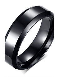cheap -Men's Band Ring - Stainless Steel, Titanium Steel Fashion 7 / 8 / 9 Black For Party / Daily / Casual