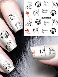 cheap -fashion printing pattern water transfer printing nail stickers