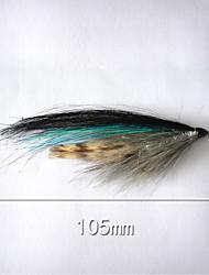 """500 pc Esca Esche rigide Blu g/Oncia,105 mm/4-1/16"""" pollice,Plastica morbida Pesca a mulinello"""