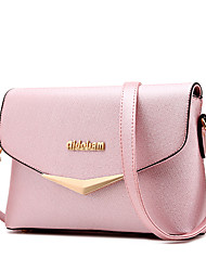 Women Bags Fall PU Shoulder Bag with Ruffles for Shopping Casual Formal Outdoor Office & Career Black Blushing Pink Light Blue Light gray