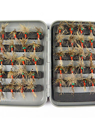Anmuka 40pcs Various Dry Fly Fishing Lures Tackle Kits Fishing Trout Flies Goldhead Fish Lures Boxed Set Drop Shipping