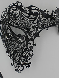 Signature Phantom Of The Opera Half Face Laser Cut  Mask Metal5002A1