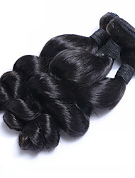 "cheap -3pcs/Lot 8""-26""Raw Malaysian Virgin Hair Natural Black Loose Wave Human Hair Weaves Low Price Hot Sale"