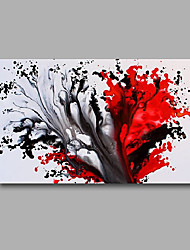 Stretched (Ready to hang) Hand-Painted Oil Painting 90cmx60cm Canvas Wall Art Modern Abstract Black Red
