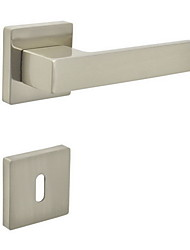 cheap -Square Door Lever, Handleset, Door handle with Key Hole Escutchoen Color Brush Nickle