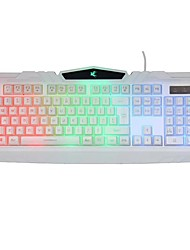 USB Wired Colorful Rainbow Illuminated LED Backlight Gaming Keyboard
