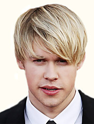 cheap -Stylish Side Bang Light Blonde Mixed Shaggy Short Capless Straight Synthetic Wigs For Men