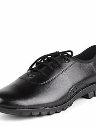 Muške Moderan Koža Štikle Na otvorenom Na vezanje Niska potpetica Crn 3 cm Nemoguće personalizirati