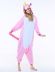 cheap -Kigurumi Pajamas Flying Horse / Unicorn Onesie Pajamas Costume Polar Fleece Pink Cosplay For Adults' Animal Sleepwear Cartoon Halloween