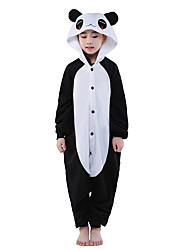 cheap -Kigurumi Pajamas Panda Onesie Pajamas Costume Polar Fleece Black Cosplay For Kid's Animal Sleepwear Cartoon Halloween Festival / Holiday