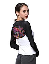 abordables -Nuckily Femme Tee-shirt de Course Manches Longues Résistant aux ultraviolets Respirable Ecran Solaire Hauts/Top pour Camping / Randonnée