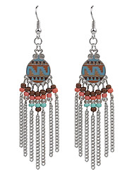 cheap -Bohemian Vintage Jewelry Gold/Silver Plated Women's Beads Tassel Earrings