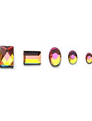 nail art Super Flash trapano colorato Fire Drill (# 1, # 2 -100 stelle, 3 #, 4 #, 5 # -1440 stelle)