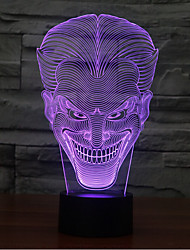 cheap -Smiling Face Jack Touch Dimming 3D LED Night Light 7Colorful Decoration Atmosphere Lamp Novelty Lighting Light