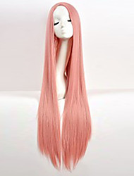 cheap -cos wig pink in long straight hair wigs 100cm long wigs Halloween