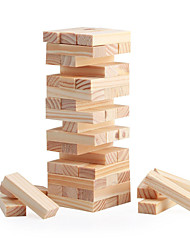 cheap -Board Game Stacking Game Stacking Tumbling Tower Wooden Blocks Square Mini Wooden Christmas Birthday Children's Day Girls' Boys' Gift
