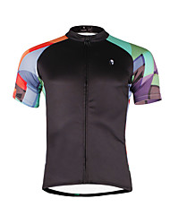 ILPALADINO Cycling Jersey Men's Short Sleeves Bike Jersey Top Quick Dry Ultraviolet Resistant Breathable Soft Compression Lightweight