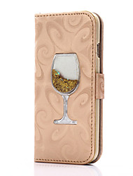cheap -Flowing Quicksand Liquid wineglass Pattern PU leather Case For Apple iPhone 7 7 Plus 6s 6 Plus SE 5s 5