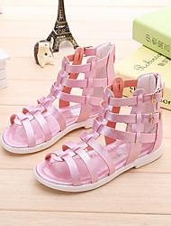 baratos -Para Meninas Sapatos Courino Verão Sandálias para Branco / Rosa claro / Coral