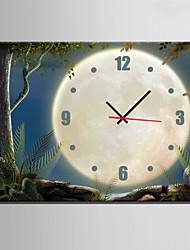 baratos -Rectângular Moderno/Contemporâneo Relógio de parede , Outros Tela35 x 50cm(14inchx20inch)x1pcs/ 40 x 60cm(16inchx24inch)x1pcs/ 50 x