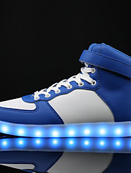 Big Size LED Shoes  Women's Sneakers Comfort Synthetic Casual Flat Heel Lace-up Black / Blue / White