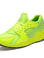 preiswerte -Unisex Schuhe Stoff Frühling Herbst Komfort Sneakers Schnürsenkel Für Normal Weiß Schwarz Rot Grün