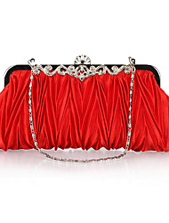 cheap -Women Bags Nylon Evening Bag Ruffles for Wedding Event/Party All Seasons Red Pink Wine Royal Blue Champagne