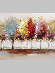 cheap -Free Shiping Abstract Colorful Trees on Canvas