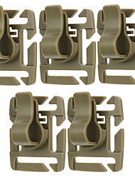 FURA Outdoor 360 Degree 8-Stage Rotating Base POM Clamps for Molle Backpacks - Khaki / Black / Green (5 PCS)