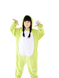 cheap -Kigurumi Pajamas Frog Onesie Pajamas Costume Polar Fleece Green Cosplay For Kid's Animal Sleepwear Cartoon Halloween Festival / Holiday