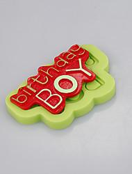 Недорогие -силиконовые формы мальчик день рождения торты изображение украшения инструменты помадные шоколад плесень ramdon цвет
