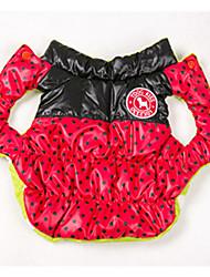 abordables -Chien Manteaux Gilet Vêtements pour Chien Garder au chaud Réversible A pois Noir Jaune Rouge Rose Rouge Bleu Costume Pour les animaux