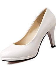 preiswerte -Damen Schuhe PU Sommer High Heels Blockabsatz für Normal Weiß Schwarz Beige Rot