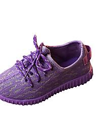 Недорогие -Розовый Фиолетовый Серый-Унисекс-Повседневный-Полиуретан-На плоской подошве-Удобная обувь-Кеды