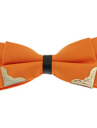 cheap -Men's Polyester Bow Tie,Vintage Party Work Casual Jacquard All Seasons White Black Orange Yellow Dark Red