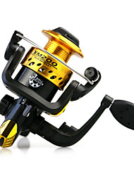 cheap -200 Size 5.1:1 3 Ball Bearings  Freshwater Fishing Ice Fishing Carp Spinning Fishing Reels