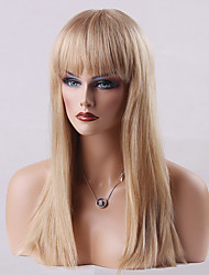 Beautiful Capless Wigs High Quality Long Straight Human Hair  24 Inches